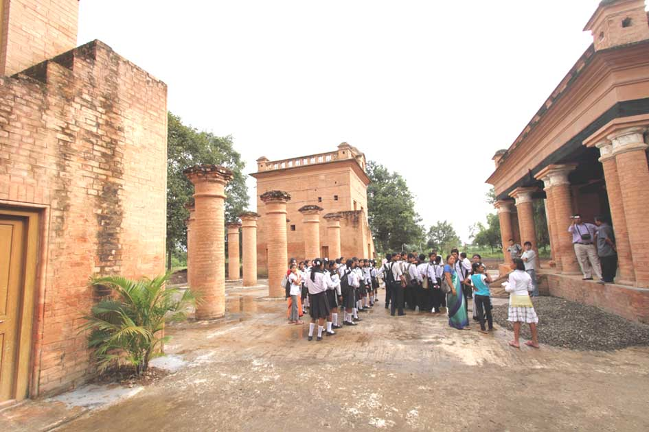 School children on a guided tour of Kangla