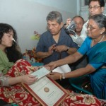 Irom Sharmila Chanu recieving the first ever prestigious Rabindranath Tagore Memorial Peace Prize. Photo By: Ph Santosh