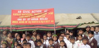 Assam Rifles under IGAR(S) provides assistance to Kapaar Kachoung orphanage. 2011-03-01   by : IFP Photo