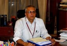GK Pillai, Home Secretary, Govt of India, at his Office Delhi ---Pic By Oken Jeet Sandham
