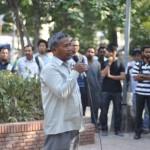 Save Sharmila Jan Karawan reaches Delhi: Irom Sharmila's brother Irom Singhjeet addressing the gathering