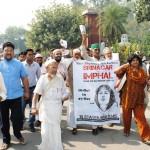 Save Sharmila jan Karvan in Aligarh on 20-10-2011: Photo By : Save Shamila Campaign