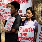 Protest against the murder of Loitam Richard at Jantar Mantar in New Delhi on April 29