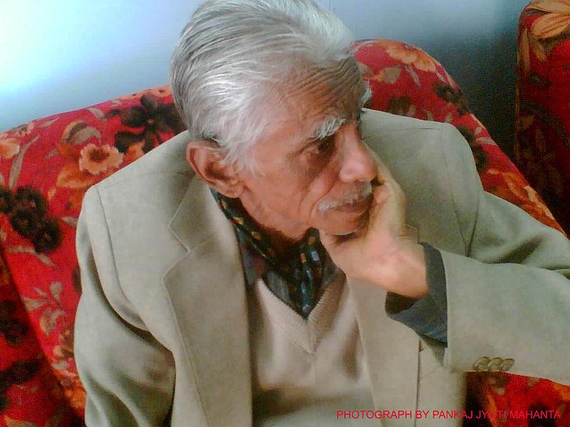 Assamese renowned poet Hiren Bhattacharyya
