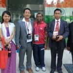 Archer chief coach Limba Ram with EMA members
