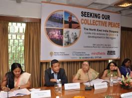 Ms Binalakshmi Nepram, Mr Karma paljor, Dr Jyotsna Chatterji, Ms Barnali Das, Ms Teresa Rehman (l-r)
