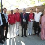 Olympian archers. Bombyla , Deepika Kumari and Chekrovolu Swuro with EMA members and Bomyla's parents at Lord Stadium