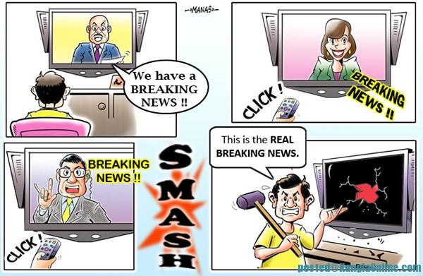 Breaking News Everywhere on news media -