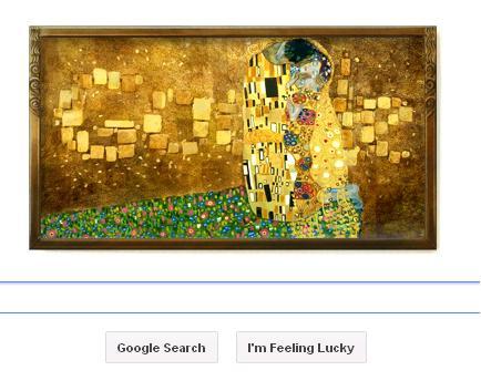 Google Doodle celebrated Gustav Klimt on his birthday