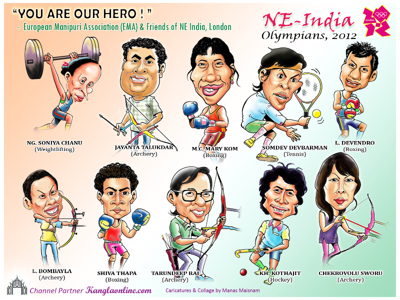 Northeast India Olympians at London Olympics
