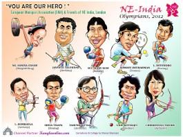 Northeast India Olympians at London Olympics