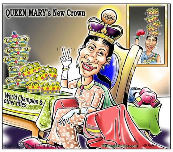 QUEEN MARY's New Crown , Magnificient Mary Kom new crown.