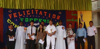 Felicitation programme for Don Bosco College Maram Ranks Holders of 2012