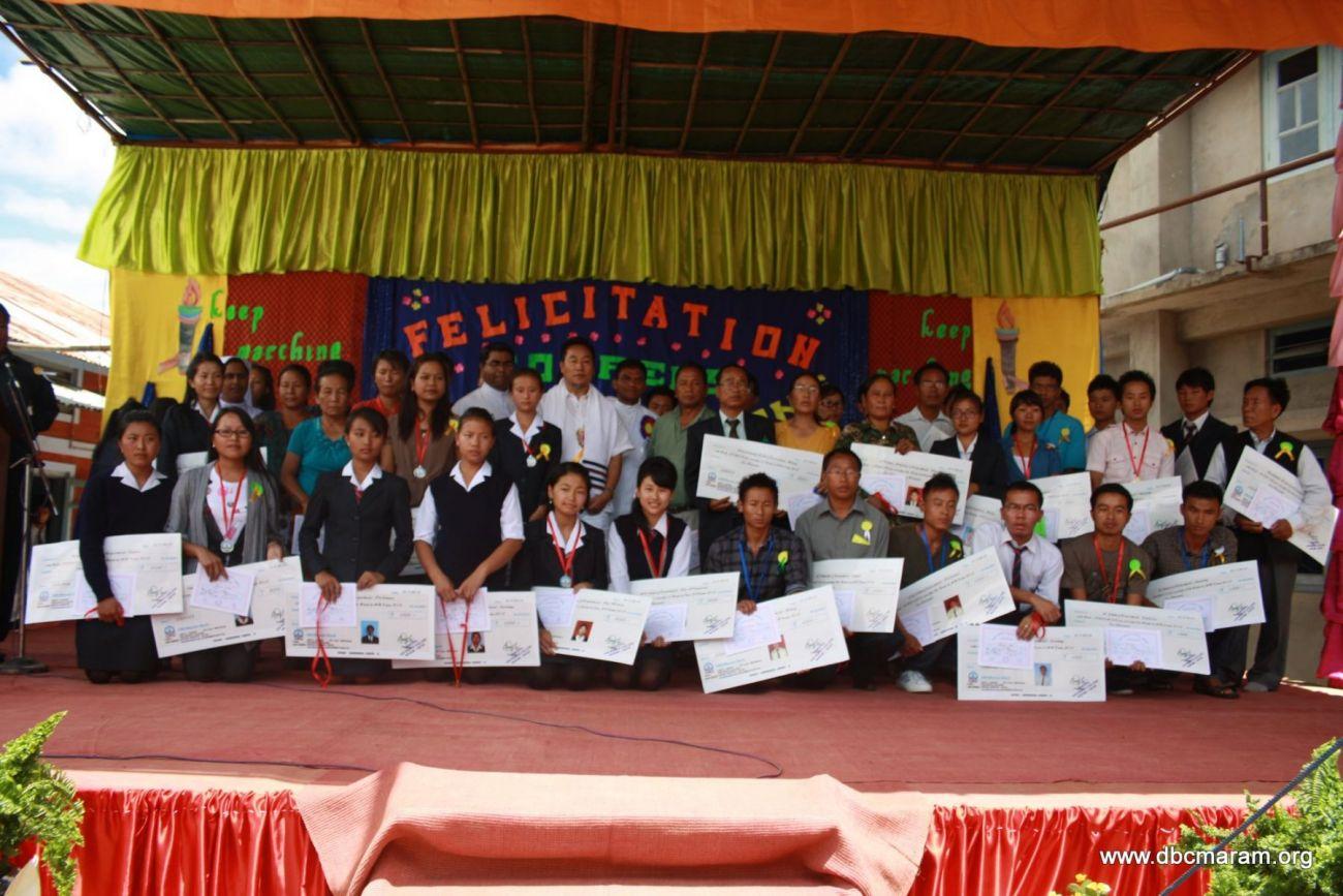 Felicitation programme for Don Bosco College Maram Ranks Holders of 2012