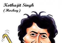 Khadangbam Kothajit Singh : Special Caricature by Manas Maisnam