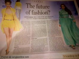 The Hindu Magazine features the Gen next designers from Manipur
