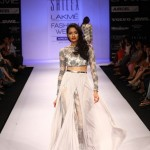 A model on the ramp showcase designer Sailex Ngairangbams creations at LFW (7)