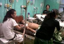 Mr Bony lying on bed of Safdarjung Hospital