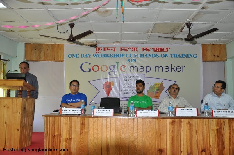 A report on One Day Workshop cum Hands-on Training on  Google Mapmaker for Mapping Manipur