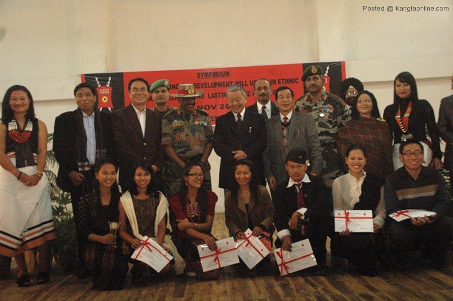 Deputy CM and GOC of Red Shield Devision during symposium at Senapati on Saturday