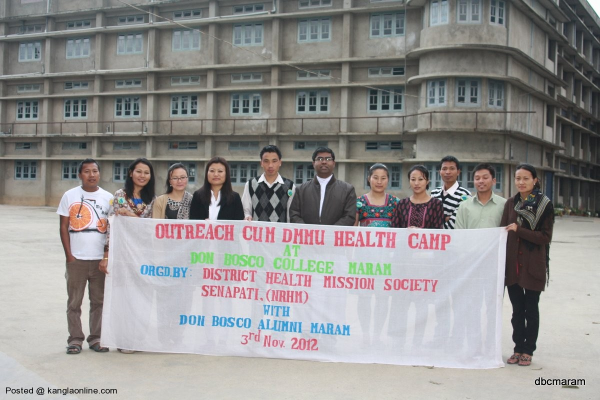 Don Bosco Maram Alumni Health Camp on 3 Nov 2012