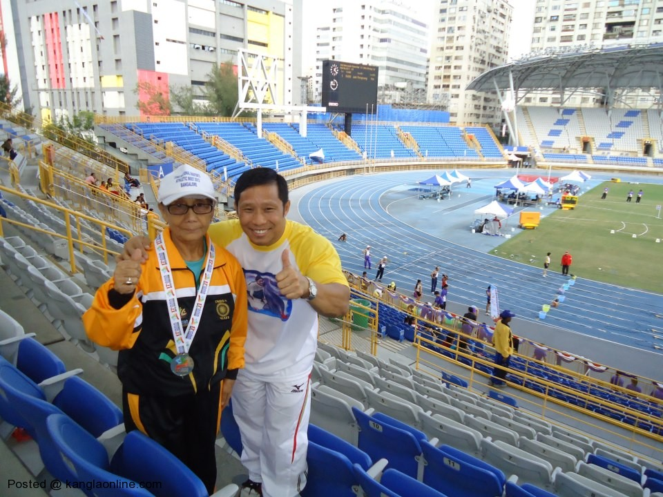 Ema Hijam Nirmala got Gold for Manipur and India yesterday(3rdNov.) in the ongoing 17th Asia Masters Athletics
