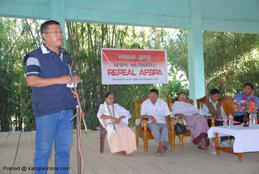 IFP Resident Editor speaking at Bishnupur on AFSPA on Friday