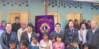 Kohima Lion Members with leprosy inmates at Leporsy Colony, Kohima