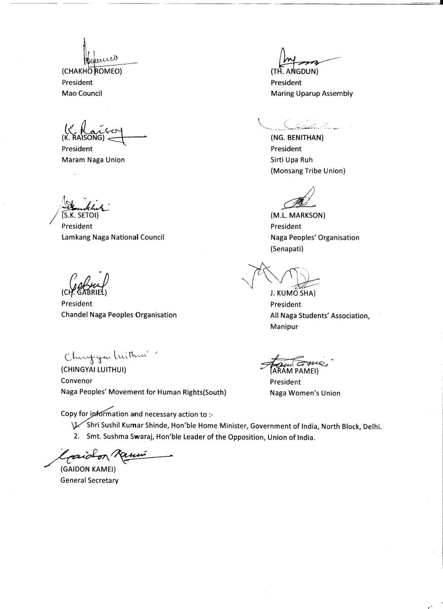 Submission of the United Naga Council to the Hon'ble Prime Minister of India on early settlement of the Indo-Naga issue 3