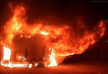 Mob burnt down Ukhrul DC vehicle on Sunday