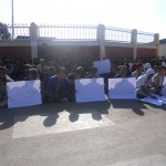 Protest at Manipur University