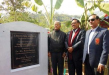 State Deputy Chief Minister Gaikhangam today laid the foundation stone of the Leimatak Bridge at Taosang in Tamenglong district