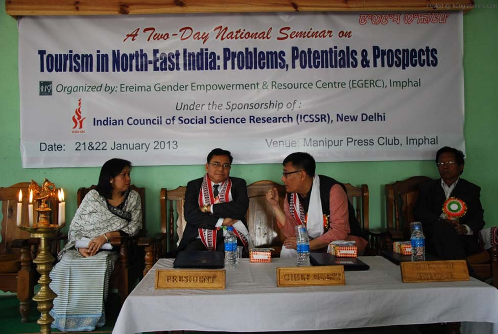 The inaugural of the seminar on tourism in NE India on Monday