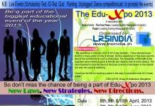 LRSINDIA announces its 7th EDUCATION FAIR on 8-10th APRIL 2013 and 8-10th JUNE 2013