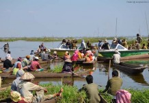 Argument between the LDA officials and the local fishermen at Langol Sabhi pat area of Lokatak on Saturday