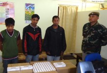 The three detained alongwith the drugs in police custody