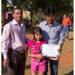 1st prize in girl's spoon race