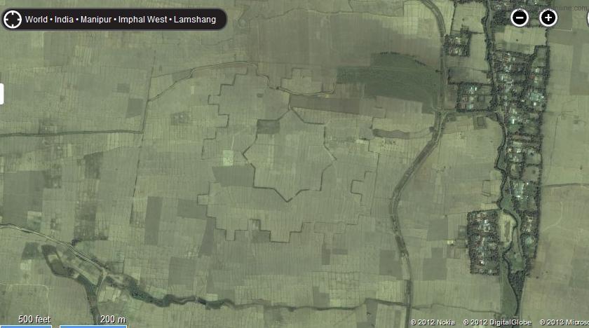 Ancient star shaped mud fort discovered at Maklang, Manipur