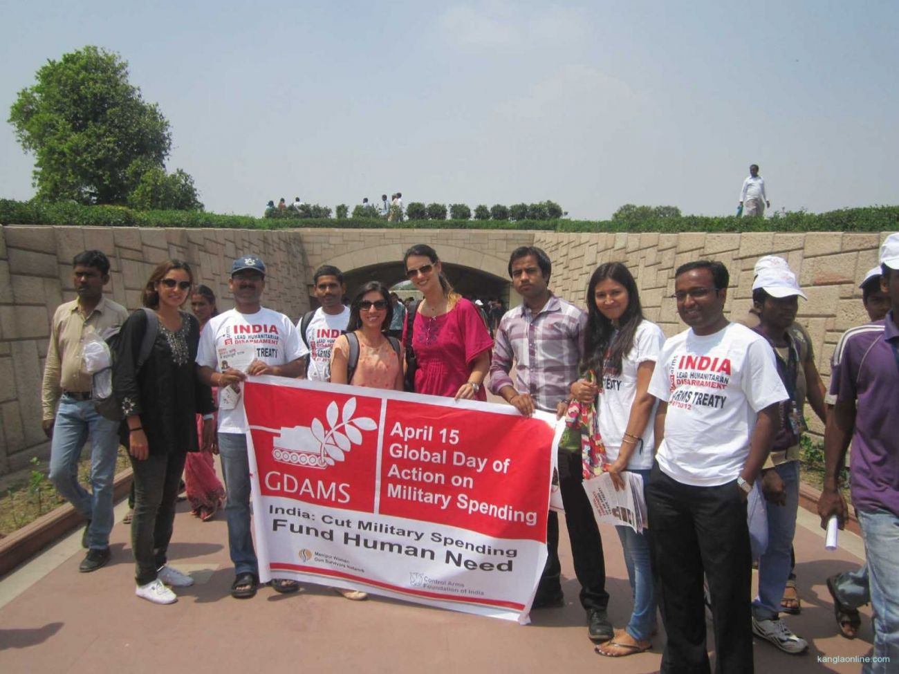 Global Day of Action on Military Spending Campaign at Raj Ghat on 15 April 2013