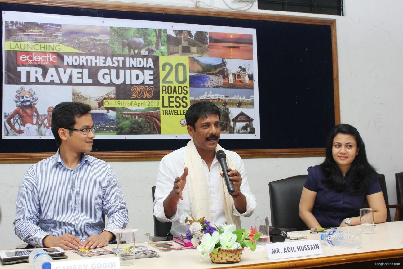 Press Release - Adil Hussain supports freedom of artists at launch of NorthEast India Travel Guide