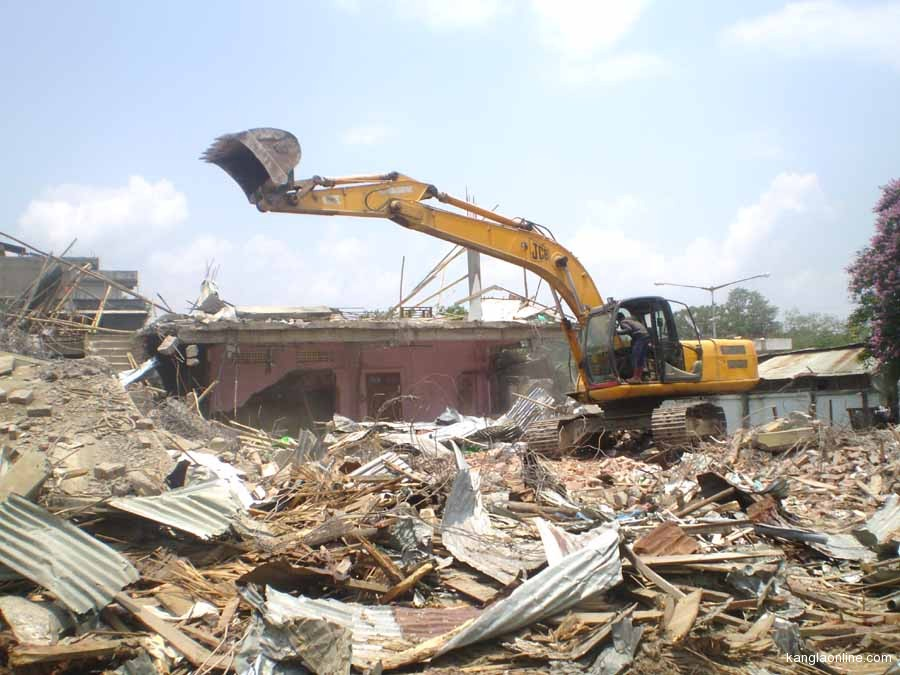 Eviction of resdents at Naga River Land Colony underway on Monday