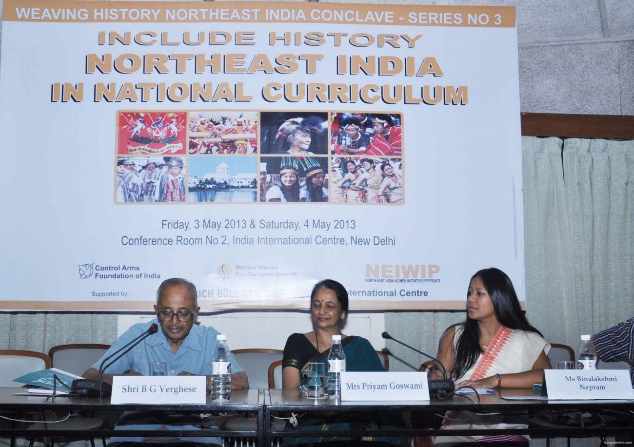 Shri BG Verghese, Mrs Priyam Goswami, Ms Binalakshmi Nepram (l-r)