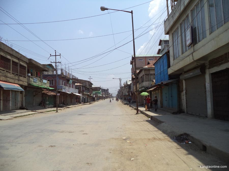 A deserted road in CCPur during the ATSUM bandh.