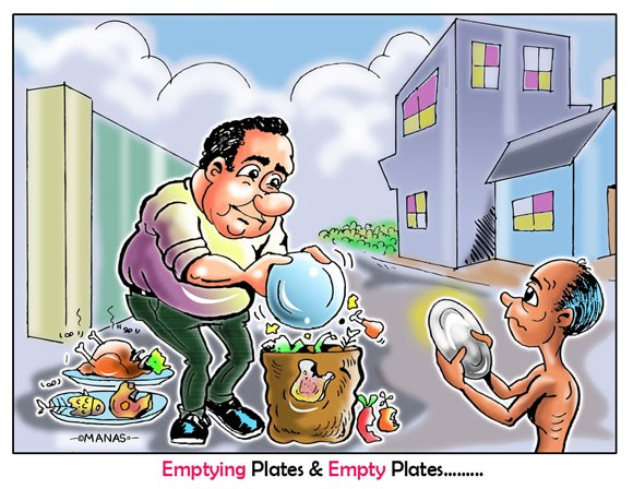 "Winning cartoon - ""Emptying Plates & Empty Plate..."""