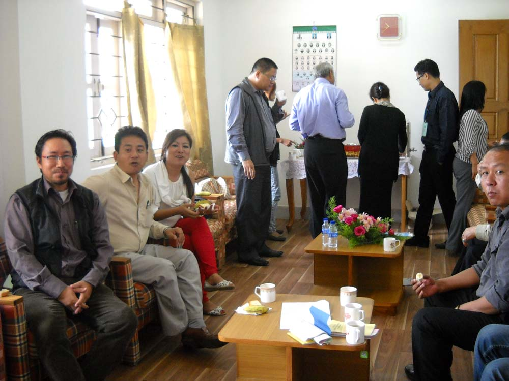 Nagaland media persons during recess of the Nagaland Assembly Budget Session on July 19, 2013 at their Press Room in Nagaland Assembly. (NEPS Photo)