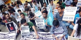 Protest against Ramban Massacre