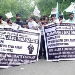 Protest against Ramban firing at Jantar Mantar