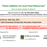 "Lecture on ""Value addition of Local Food Resources"""