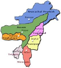 North Eastern States in India