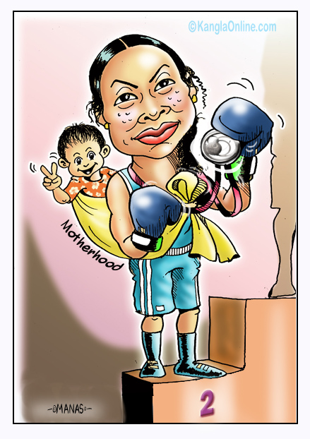 Laishram Sarita - A mother and a Silver Medalist !